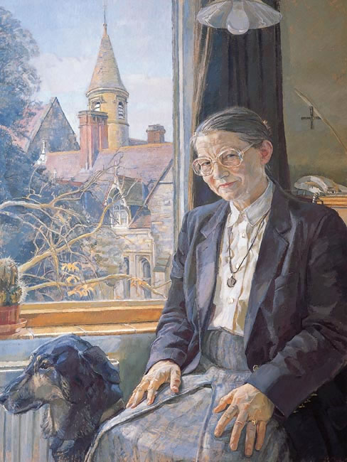 Sister Jean Sinclair, Headmistress, St Leonards Mayfield School with Bill 1995 - 76.2 x 63.5 cms