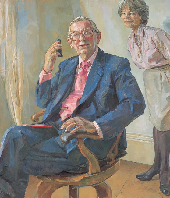 Lord Sainsbury with Lady Sainsbury, 2000 - 127 x 101.6 cms