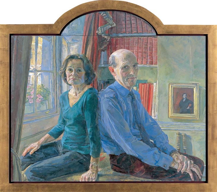 Mr and Mrs Richard Hunting, 2007 - 116.8 x 76.2 cms