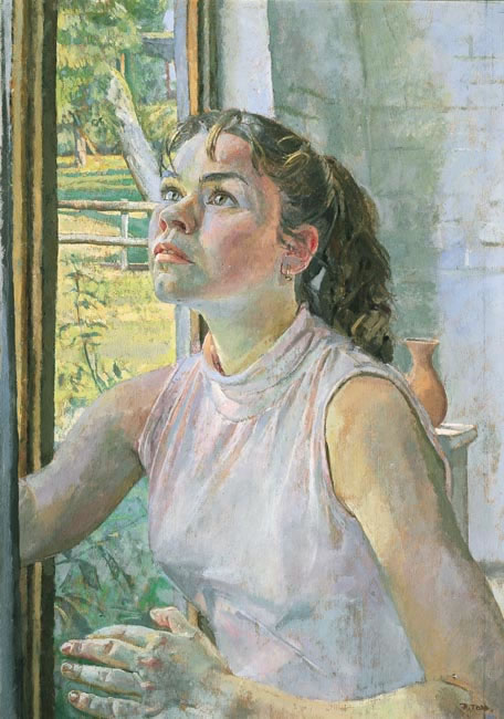Girl Looking Up, 2002 (53.5 x 38.1 cms - 21 x 15 ins)