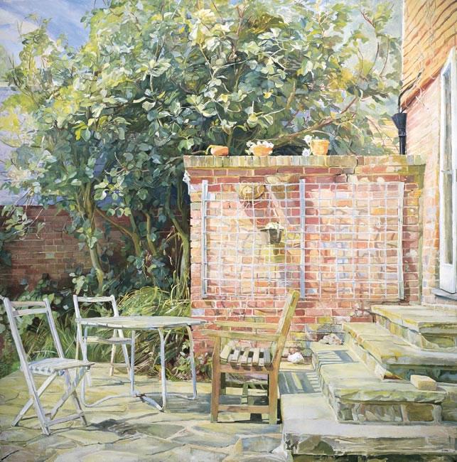 The Terrace, 1985 (121.9 x 121.9 cms - 48 x 48ins)