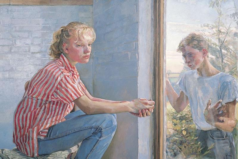 Boy Looking In, 2000 (71.1 x 106.7 cms - 28 x 42 ins)