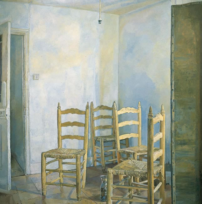 Four Spanish Chairs, 1984 (121.9 x 121.9 - 48 x 48 ins) - Sold