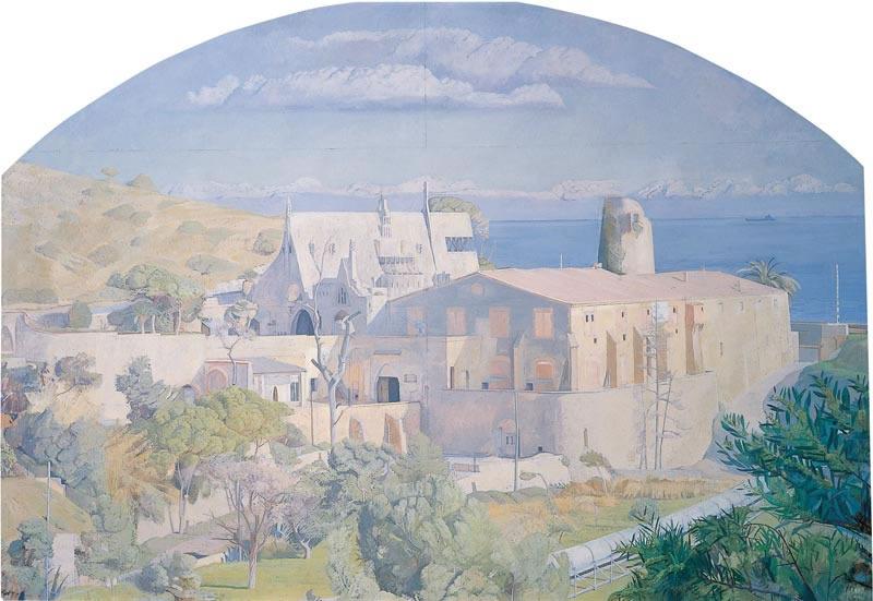 Gaudi at Garraf, with Industrial Tube, Spain 1976 (203.2 x 304.8 cms - 80 x 120 ins)